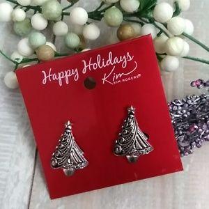 Kim Rogers Christmas Tree Earrings